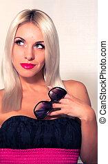 Elegant beauty blond