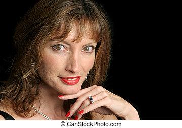 Elegant Beauty - Flirting - A beautiful, sophisticated woman...