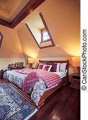 Elegant bedroom in colonial style