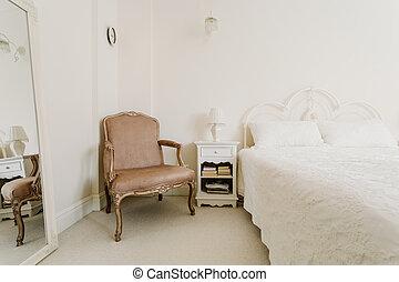 Elegant bedroom in vintage style