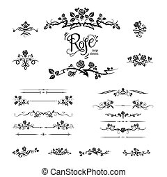 Elegant black roses design