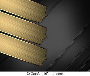 elegant black texture background with gold pointers