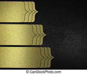 elegant black texture background with gold pointers.