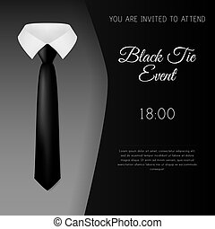 Elegant Black Tie Event Invitation Template