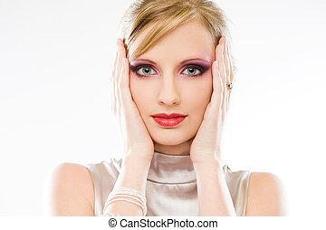 Elegant blond beauty.