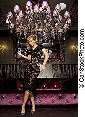 elegant blond woman