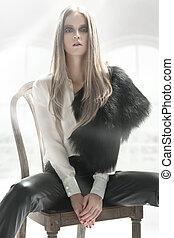 elegant, blonde , beauty
