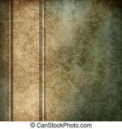 elegant blue and brown background with beige ribbon design layout, with copy space