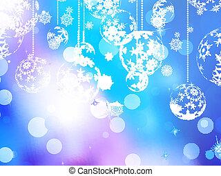 Elegant blue christmas background. EPS 10