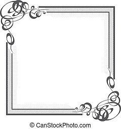 Elegant Border - Beautiful quare border with calligraphic...
