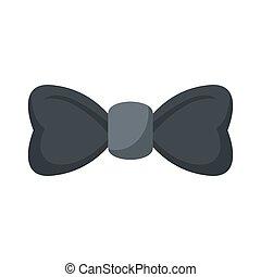 Elegant bow tie icon, flat style
