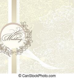elegant, bröllop, vett, kort, inbjudan