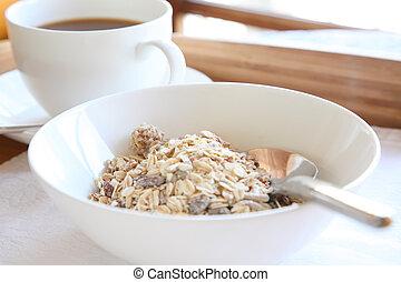 Elegant breakfast tray cereal