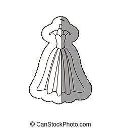 elegant bride dress icon