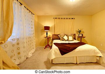 Elegant bright bedroom
