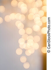 Elegant Bright bokeh background with Abstract Defocused Lights. Golden Blur lights for Christmas, Party, Holiday