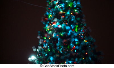 Christmas tree at night