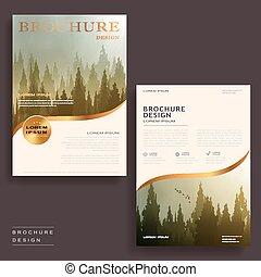 elegant brochure template - Elegant brochure template design...