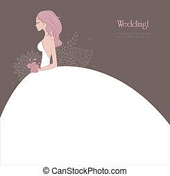 elegant, bruid