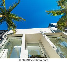 Elegant buildings in Beverly Hills