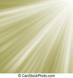 Elegant burst on a path of golden light. EPS 8 - Elegant ...