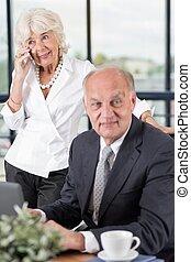 Elegant business couple