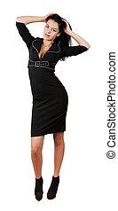 elegant business woman in stylish dress