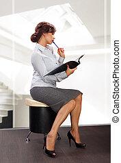 elegant business woman