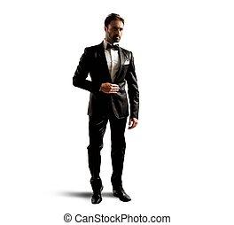 Elegant businessman - A businessman wearing an elegant black...