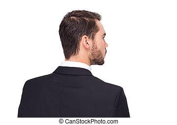 Elegant businessman in suit thinking