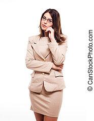 Elegant businesswoman.