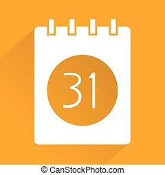 elegant calendar symbol