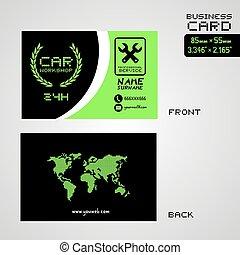 elegant car workshop business card art background