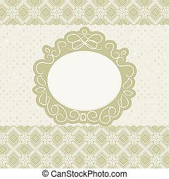 Elegant card design, vintage frame. EPS 8
