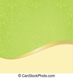 Elegant card with floral seamless background (background behind
