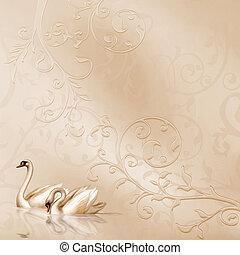 Elegant Card with Wedding Design
