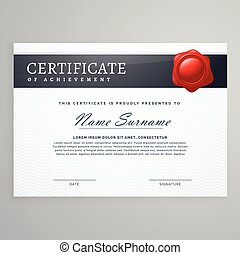 elegant certificate design in simple style