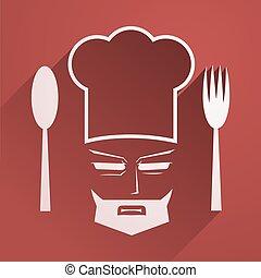 elegant chef symbol