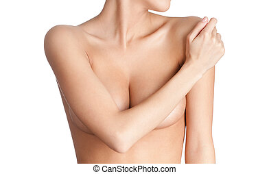 Elegant chest of a young woman