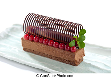 Elegant chocolate dessert