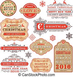 Elegant Christmas and New 2016 set