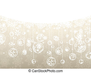 Elegant christmas background with snowflakes. EPS 8 vector file included