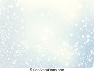 Elegant Christmas Background. Golden Holiday Abstract Glitter Defocused Background With Blinking Stars and snowflakes. Blurred Soft colored  Bokeh