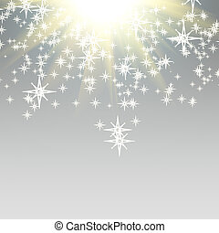 Elegant Christmas background with falling down stars