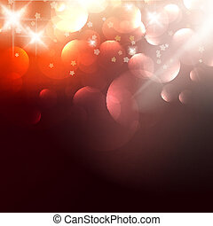 Elegant Christmas background with golden stars.