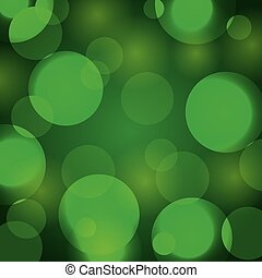 elegant christmas background with green abstract lights