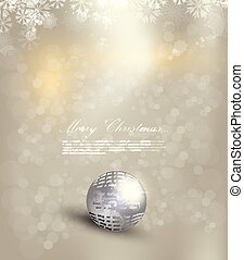 Elegant Christmas background with snowflakes gold light