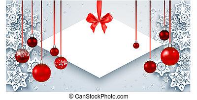 Elegant Christmas banner