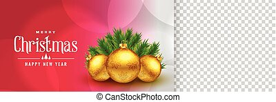 elegant christmas banner with image space