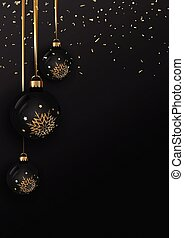 Elegant Christmas bauble background